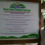 The rules signboard at Menara Taman Peranginan Tasek Lama
