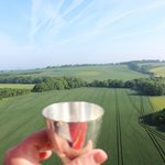 A toast to an amazing flight