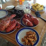 Lobster Feast! Thanks for the use of the lobster pots!