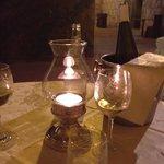 tavolo con il vino