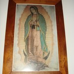 Virgen de Guadalupe on the altar of the chapel