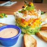 Crab, Avocado, Mango Stack