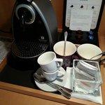 Nespresso machine is a plus