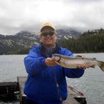 3lb Trophy Rainbow Caught At Caples Lake!