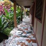tiled walk way