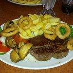 Juicy steak meal