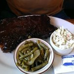 Whisky BBQ Ribs w/green beans and slaw sides