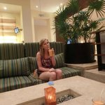 Cool lobby bar and lounge