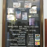 menu board/prices