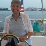 Mom at the helm