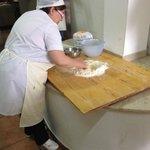 de kokkin van de kookcursus
