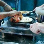 Making chapatti