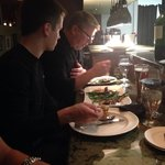 The owner and chef, John DeJoy sat down with my son to have some dinner.  Talk about personalize