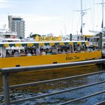 A water taxi from one of several available operators.