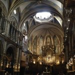 inside the Monstserrat cathedral