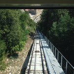 funicular track leading to the top of Monstserrat