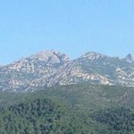 Montserrat mountain view from Barcelona