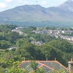 Croagh Patrick and Wesport from Knockranny Hotel