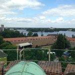 Widok z wieży na rzekę
