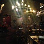 Restauracja wewnątrz twierdzy