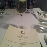 Elderflower fizz and a tasting menu...