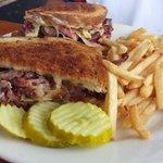 Pastrami- rueben sandwich