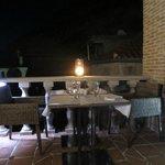 La terraza del restaurante.
