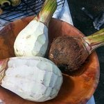 Racines de taro preparee par Hanalei