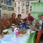 Petits dejeuner avec des pensionnaires