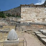 The egg-shaped monument is where the Oracle of Delphi was located, according to legend.