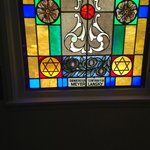 Lansky stained glass window