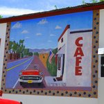 HIllsboro Cafe travel mural