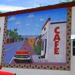 HIllsboro Cafe travel mural