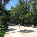 Wide paved walkways