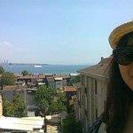 At a rooftop looking over Marmara sea