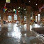 Salão utilizado para a festa junina