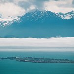 View of Homer Spit from Skyline Dr.