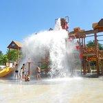La structure du parc aquatique