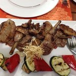 Mixed grill, cooked perfectly to our request.