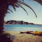 Beach in Es Canar, 5 minutes from Ereso Hotel.