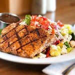 Salmon Mediterranean Salad