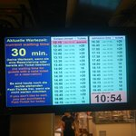the waiting line cue board in the restaurant