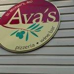 Sign for Ava's Pizzeria & Wine Bar