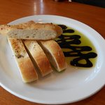 Freshly made brick oven bread served with olive oil and Balsamic vinegar