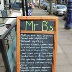 Mr. B's - Board outside