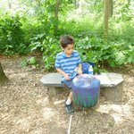 making music in the garden