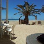 Beach from the bar