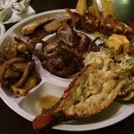 grilled seafood platter - enough for 3 people to get FULL