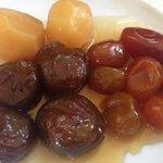 Higos, batata y quinotos en almíbar casero