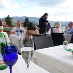 dinner on the terrace at Albergo Milano